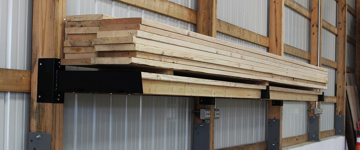 Lumber storage on Post Rack system