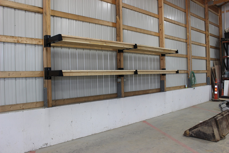 Four Sections Of Post Rack Storage Scott Systems