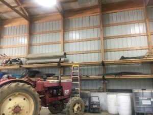 Love my shelving in my barn