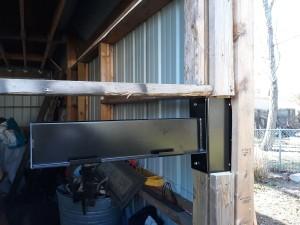 Post rack mounted in my barn