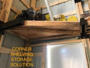 Corner solution for pole barn storage