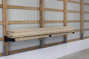 Lumber storage on Post-Rack