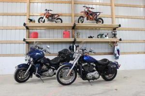 Motorcycle storage with Post-Rack