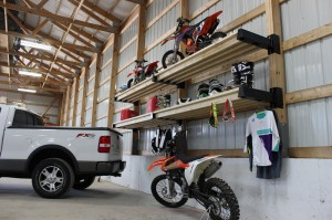 Sports storage with Post Rack